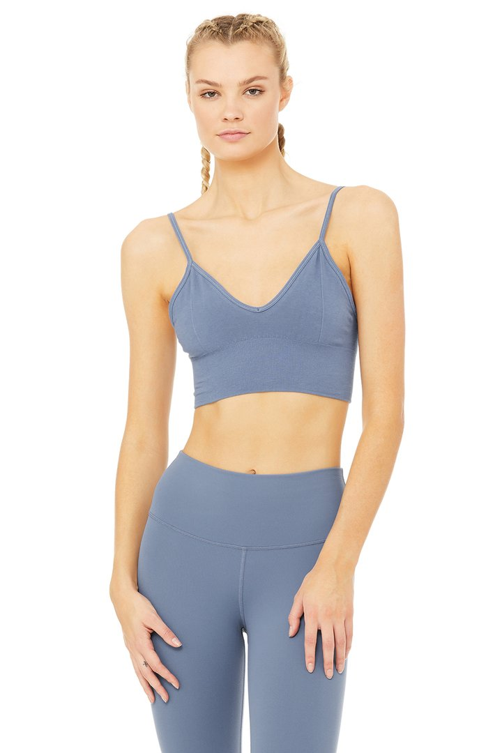 Delight Bralette - Blue Jean by Alo Yoga, available on aloyoga.com for $58 Kendall Jenner Top SIMILAR PRODUCT