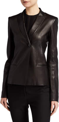 Emi Leather Blazer by The Row, available on shopstyle.com for $3290 Kendall Jenner Outerwear SIMILAR PRODUCT