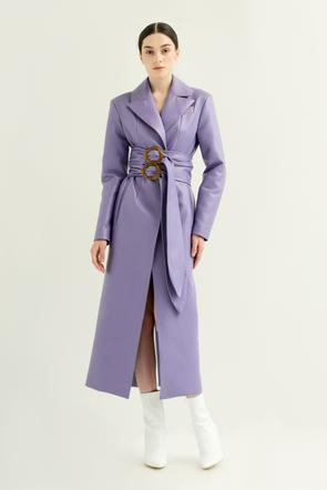 Faux leather coat w/ double belt by Materiel Tbilisi, available on materieltbilisi.com for $900 Kendall Jenner Outerwear SIMILAR PRODUCT
