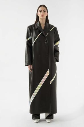 Faux leather space coat by Materiel Tbilisi, available on materieltbilisi.com for $1076 Kendall Jenner Outerwear SIMILAR PRODUCT