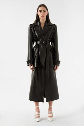 Faux leather trench coat by Materiel Tbilisi, available on materieltbilisi.com for $952 Kendall Jenner Outerwear SIMILAR PRODUCT
