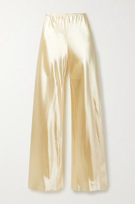 Gala Satin Wide-leg Pants - Cream by The Row, available on shopstyle.com for $1150 Kendall Jenner Pants SIMILAR PRODUCT