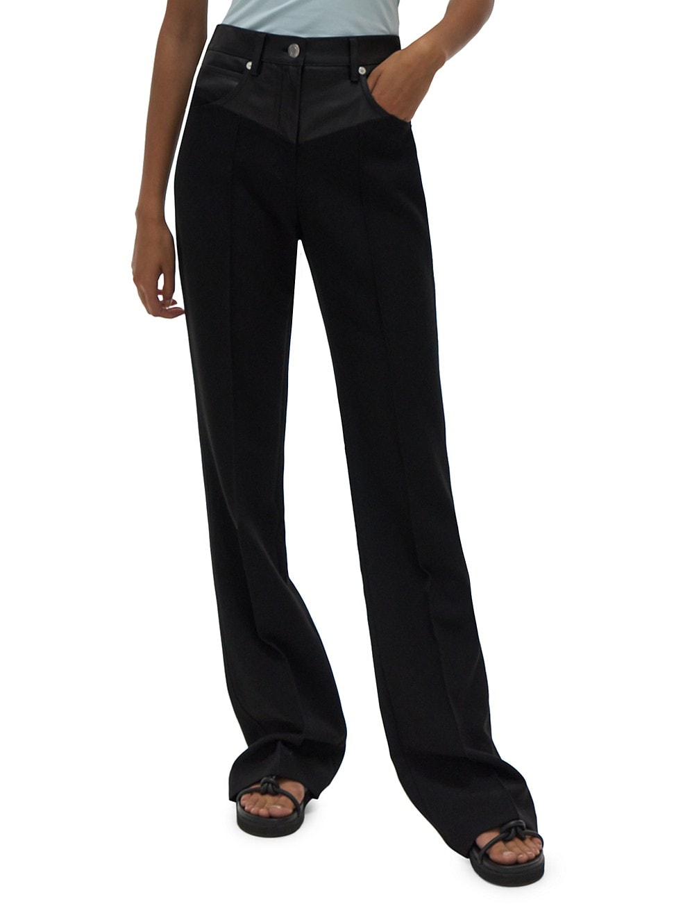 Garter Trousers by Helmut Lang, available on saksfifthavenue.com for $495 Kendall Jenner Pants Exact Product