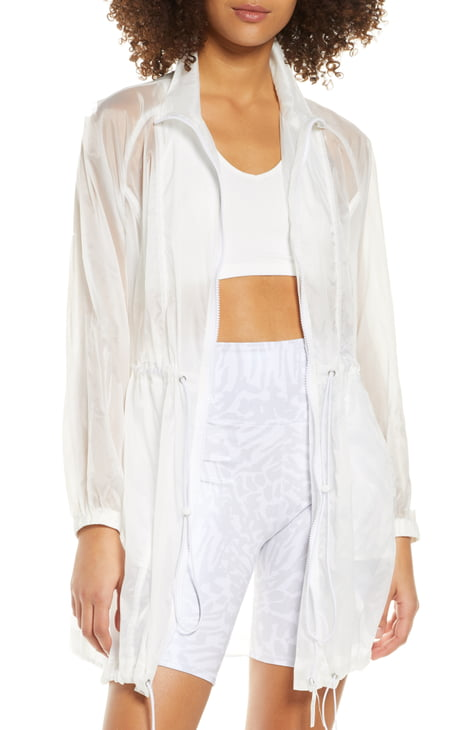 Good American Corset Seam Translucent Nylon Jacket (Regular & Plus Size), available on nordstrom.com for 83 Kendall Jenner Top SIMILAR PRODUCT