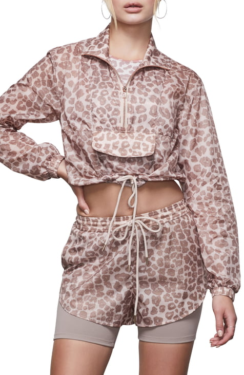 Good American Leopard Print Sheer Half Zip Pullover (Regular & Plus Size), available on nordstrom.com for 81 Kendall Jenner Top SIMILAR PRODUCT