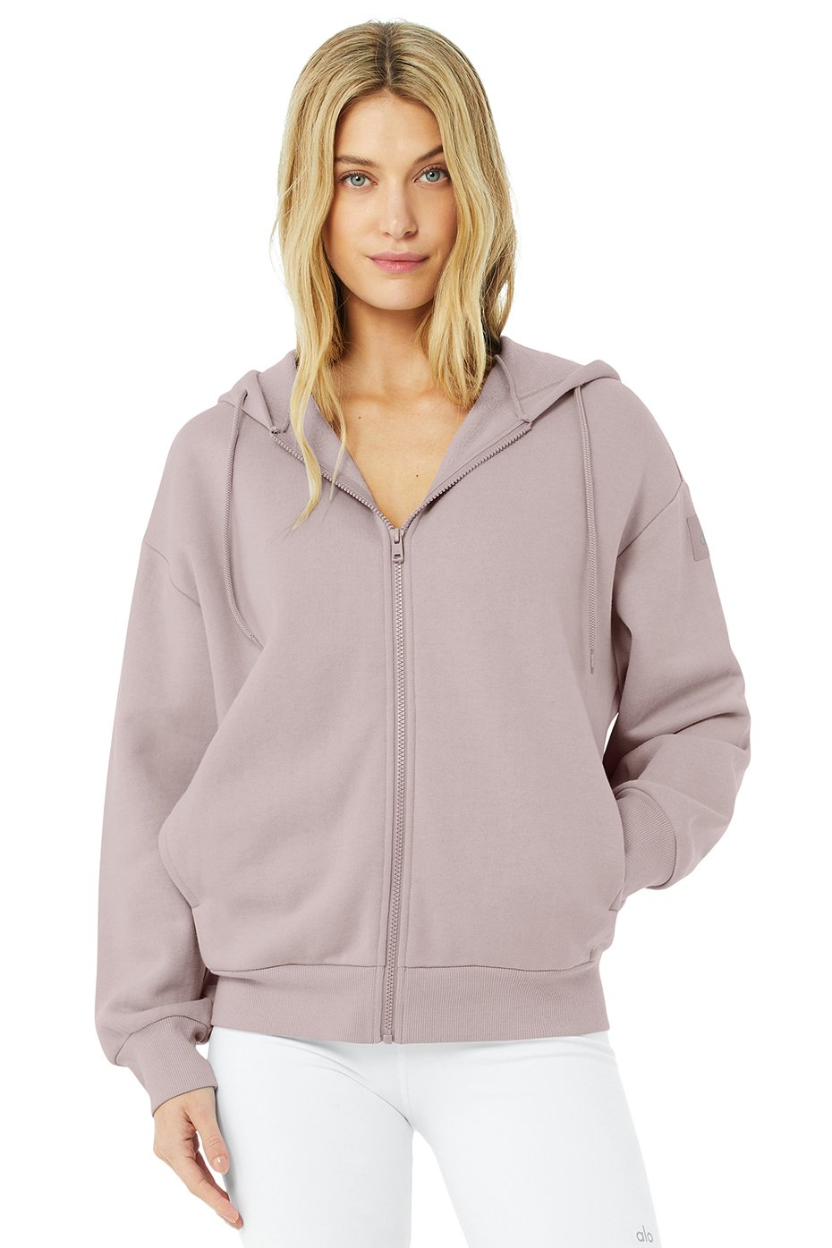 HYPE FULL ZIP HOODIE by Alo Yoga, available on aloyoga.com for $98 Kendall Jenner Outerwear Exact Product