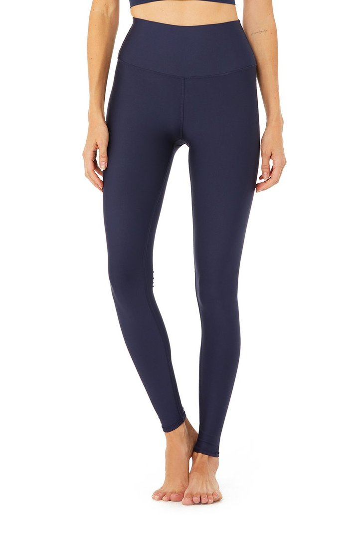 High-Waist Airlift Legging - Rich Navy by Alo Yoga, available on aloyoga.com for $118 Kendall Jenner Pants Exact Product