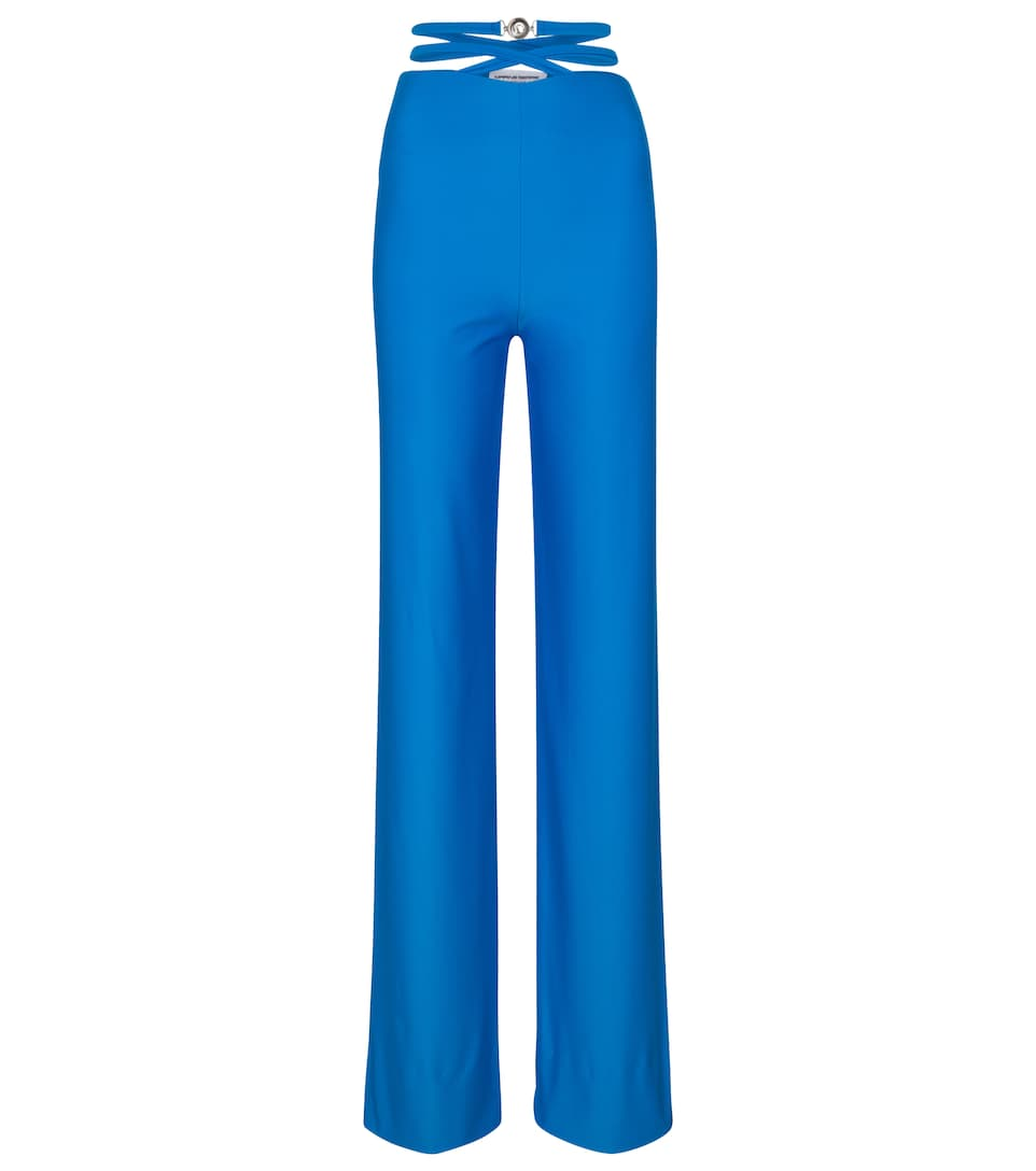 High-rise wide-leg pants by MARINE SERRE, available on mytheresa.com for EUR385 Kendall Jenner Pants Exact Product