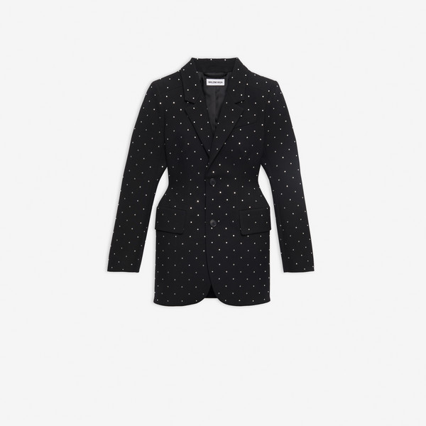 Hourglass Jacket Black by Balenciaga, available on balenciaga.com for $3700 Kendall Jenner Outerwear SIMILAR PRODUCT