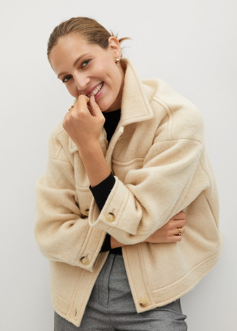 Knitted oversize jacket by MANGO, available on mango.com for $74.99 Kendall Jenner Outerwear Exact Product