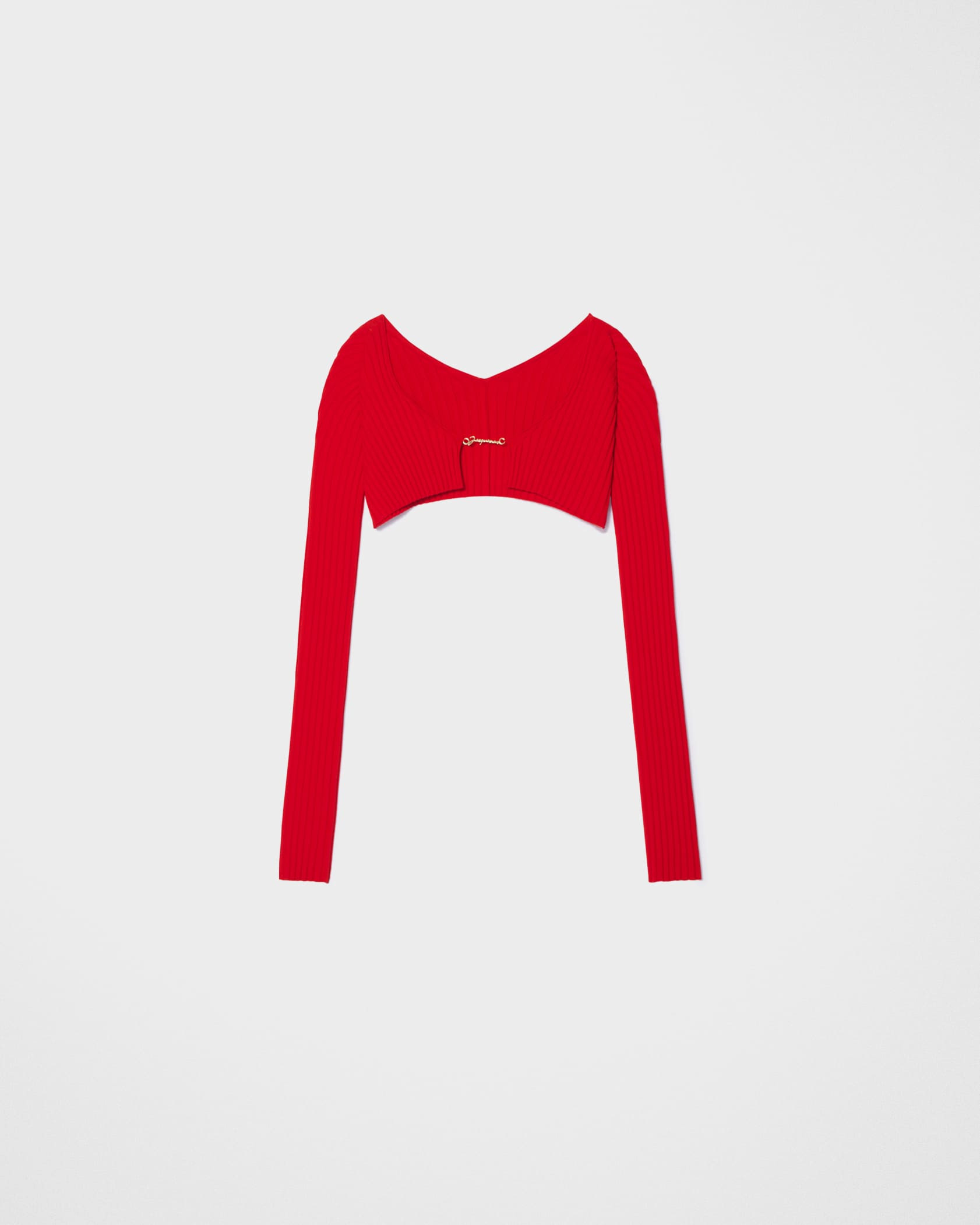 La maille Pralù by Jacquemus, available on jacquemus.com for $300 Kendall Jenner Top Exact Product