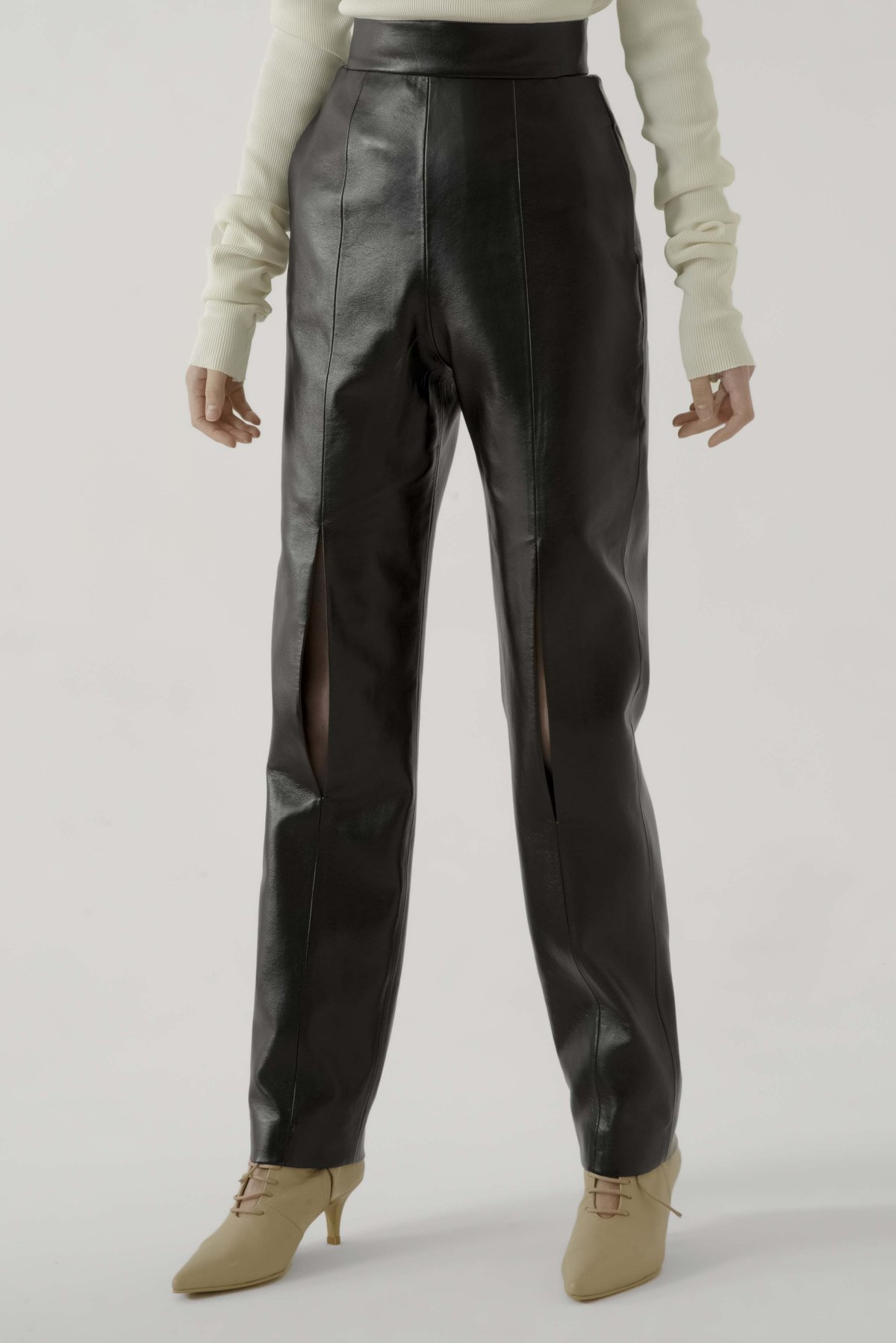 Leather Pants by Materiel Tbilisi, available on materieltbilisi.com for $364 Kendall Jenner Pants Exact Product