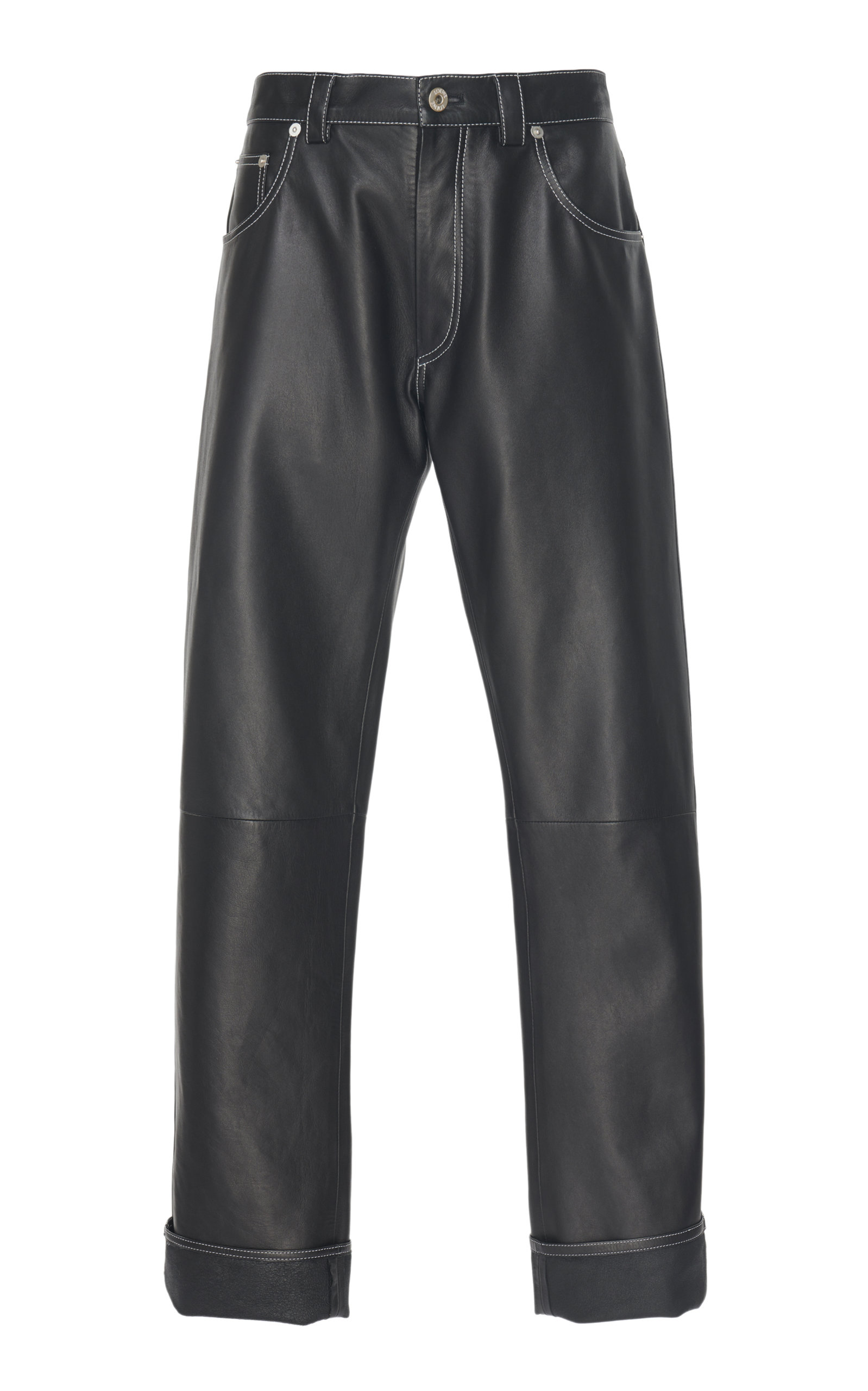 Leather Straight-Leg Pants by Loewe, available on modaoperandi.com for $2105 Kendall Jenner Pants Exact Product
