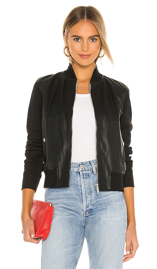 Lee Jersey Bomber Jacket by LTH JKT, available on revolve.com for $495 Kendall Jenner Outerwear SIMILAR PRODUCT