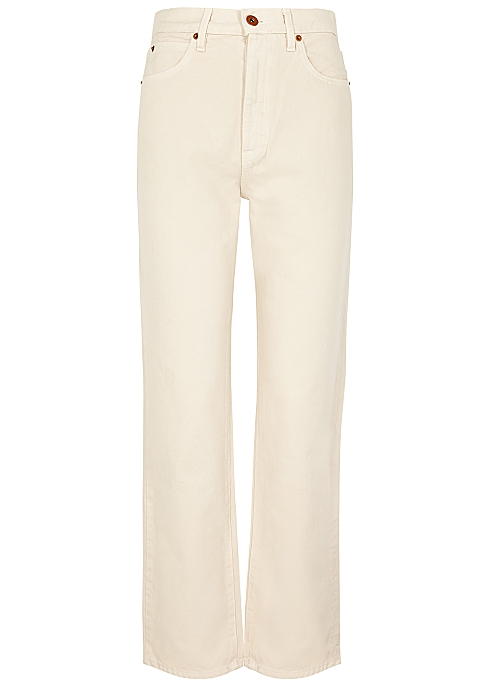 London ecru straight-leg jeans by HARVEY NICHOLS, available on harveynichols.com for $320 Kendall Jenner Pants Exact Product