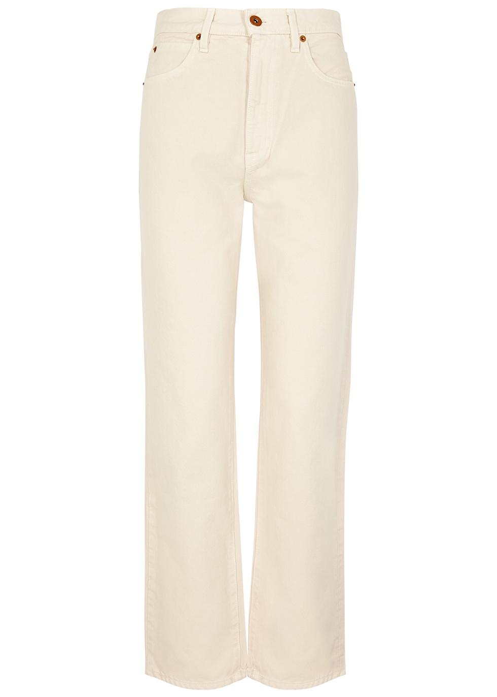 London ecru straight-leg jeans by SLVRLAKE, available on harveynichols.com for ₹22600 Kendall Jenner Pants Exact Product