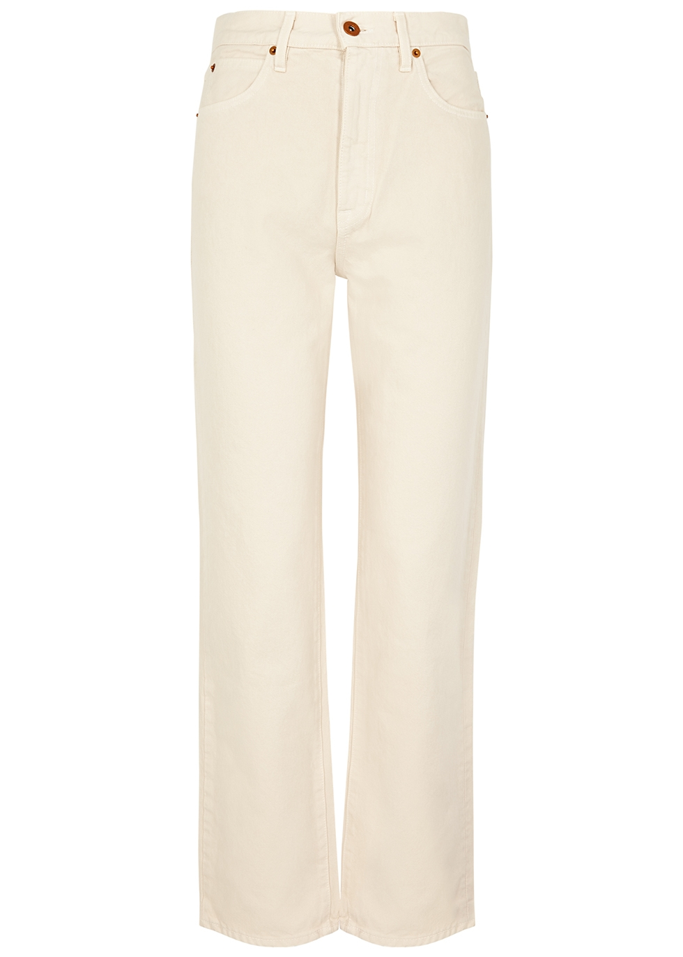 London ecru straight-leg jeans by SLVRLAKE, available on harveynichols.com for ₹300 Kendall Jenner Pants Exact Product