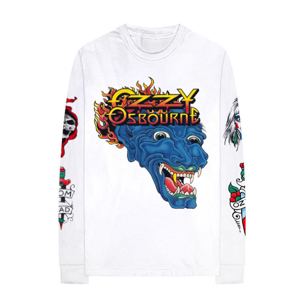 Long Sleeve Tattoo Tee by ozzy, available on ozzy.com for $60 Kendall Jenner Top Exact Product