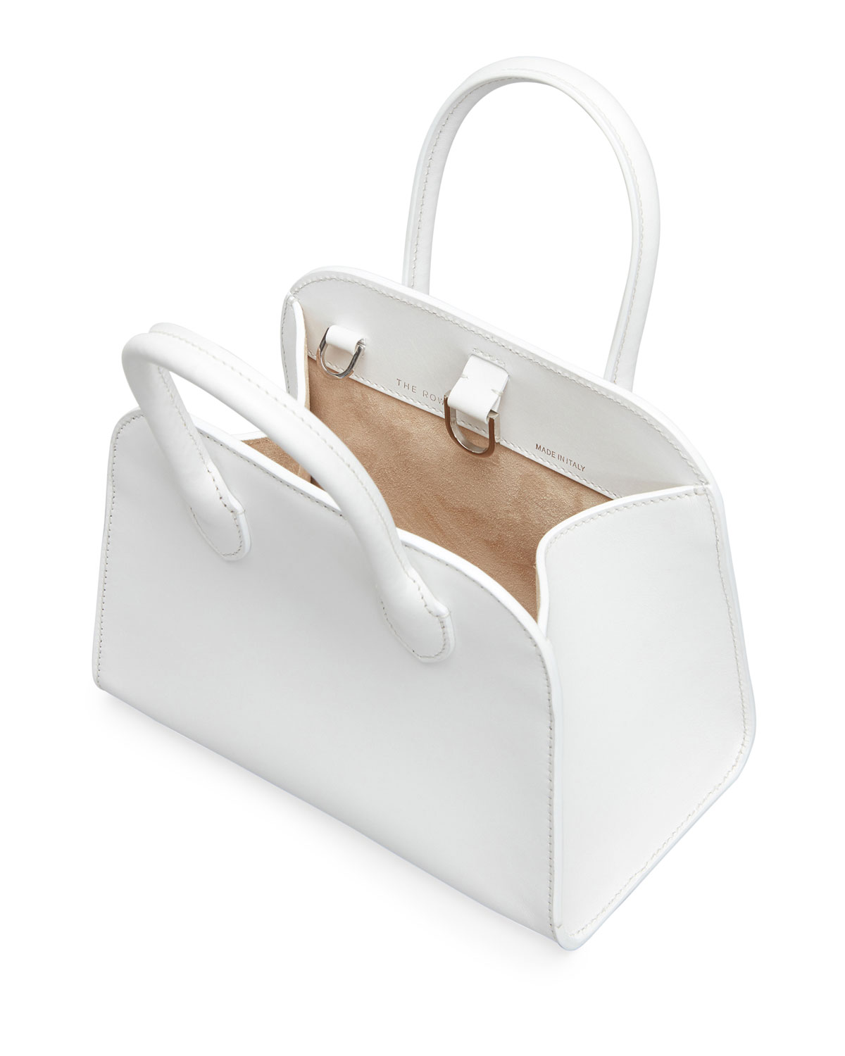 Margaux White Bag by The Row, available on neimanmarcus.com for $2250 Kendall Jenner Bags Exact Product