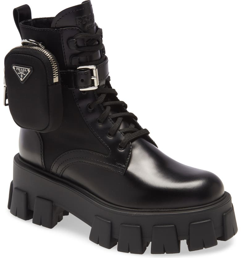 Mini Bag Combat Boot by Prada, available on nordstrom.com for $1390 Kendall Jenner Shoes Exact Product
