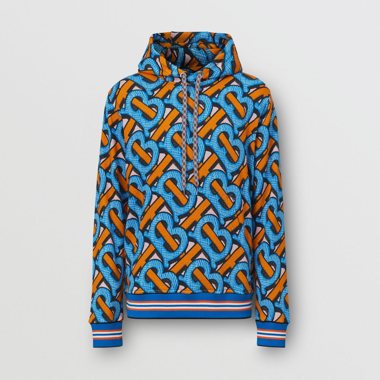 Monogram Print Cotton Hoodie by Burberry, available on burberry.com for EUR690 Kendall Jenner Top Exact Product