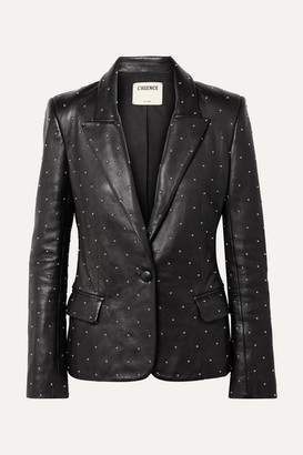 Montegoi Studded Leather Blazer - Black by L'Agence, available on shopstyle.com for $748 Kendall Jenner Outerwear SIMILAR PRODUCT