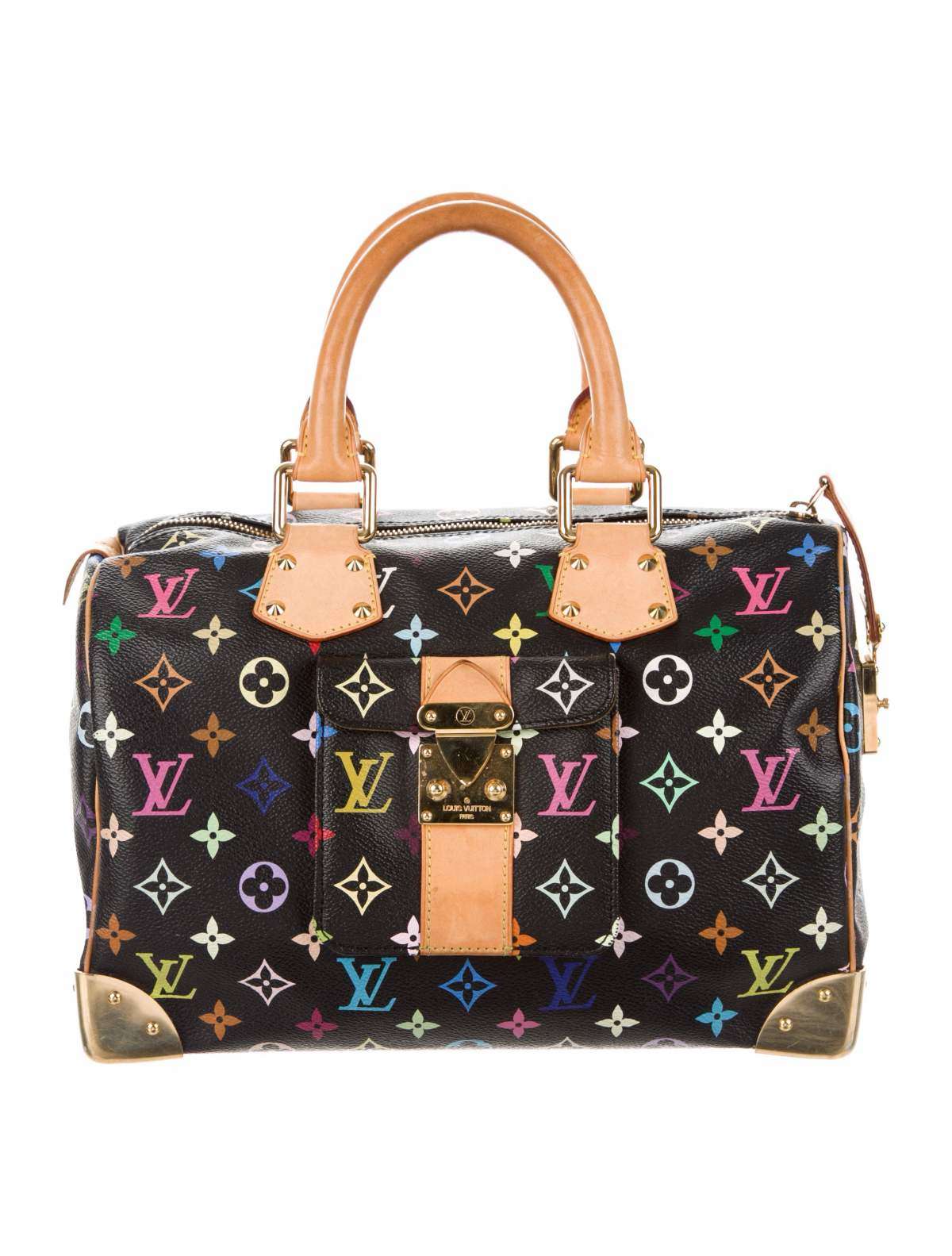 Multicolore Speedy 30 by Louis Vuitton, available on therealreal.com for $1195 Kendall Jenner Bags Exact Product