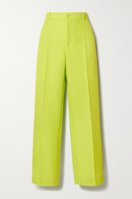 Neon Twill Straight-leg Pants - Yellow by Balenciaga, available on shopstyle.com for $795 Kendall Jenner Pants Exact Product