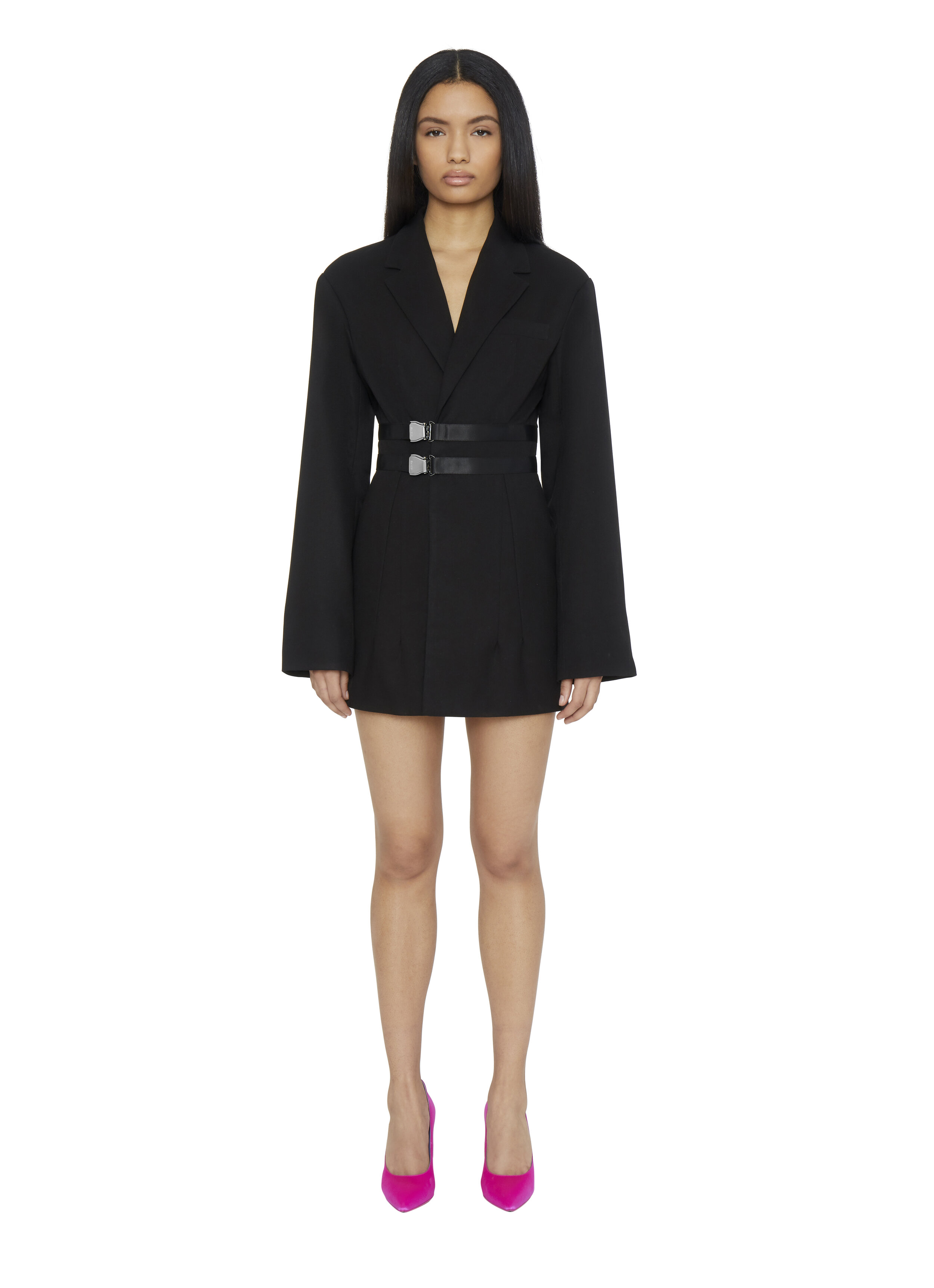 OVERSIZED BUCKLE WRAP BLAZER DRESS by Danielle Guizio, available on danielleguiziony.com for $468 Kendall Jenner Outerwear SIMILAR PRODUCT