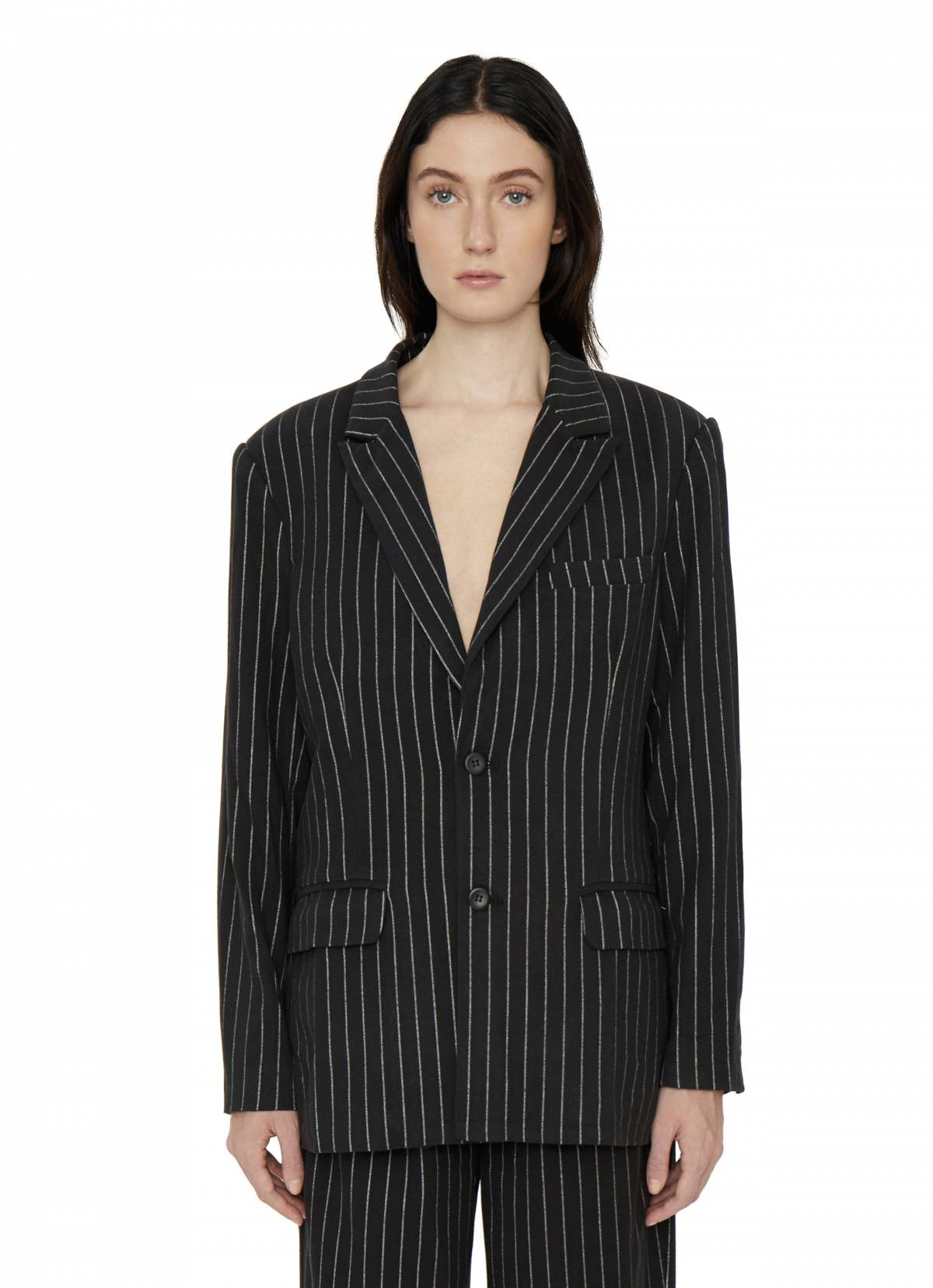 PINSTRIPE OVERSIZED BLAZER by Danielle Guizio, available on danielleguiziony.com for $468 Kendall Jenner Outerwear SIMILAR PRODUCT