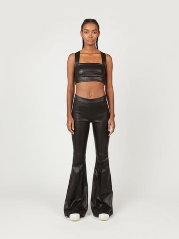 PULL ON PINTUCK FLARES by Rosetta Getty, available on rosettagetty.com for $2490 Kendall Jenner Pants Exact Product