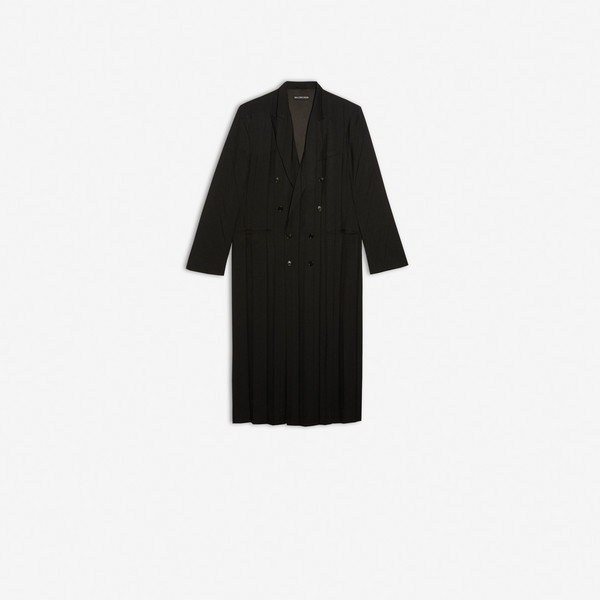 Pleated Coat Black by Balenciaga, available on balenciaga.com for $3190 Kendall Jenner Outerwear SIMILAR PRODUCT