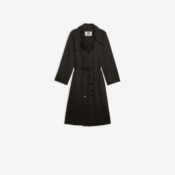 Pleated Trench Black by Balenciaga, available on balenciaga.com for $3290 Kendall Jenner Outerwear SIMILAR PRODUCT