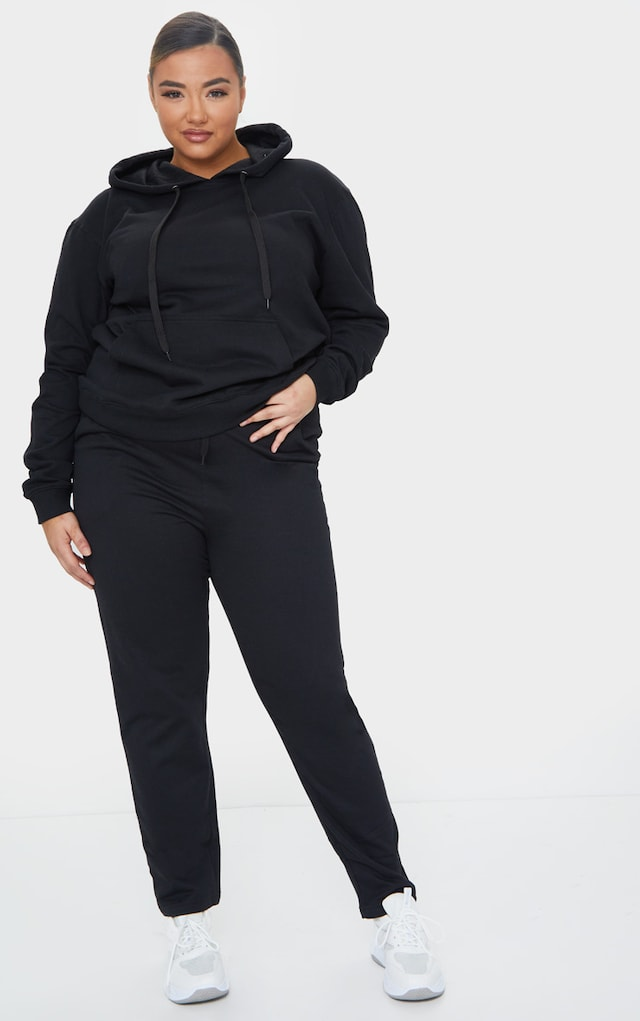 Plus Black Basic Joggers by Pretty Little Thing, available on prettylittlething.com for $16 Kendall Jenner Pants SIMILAR PRODUCT