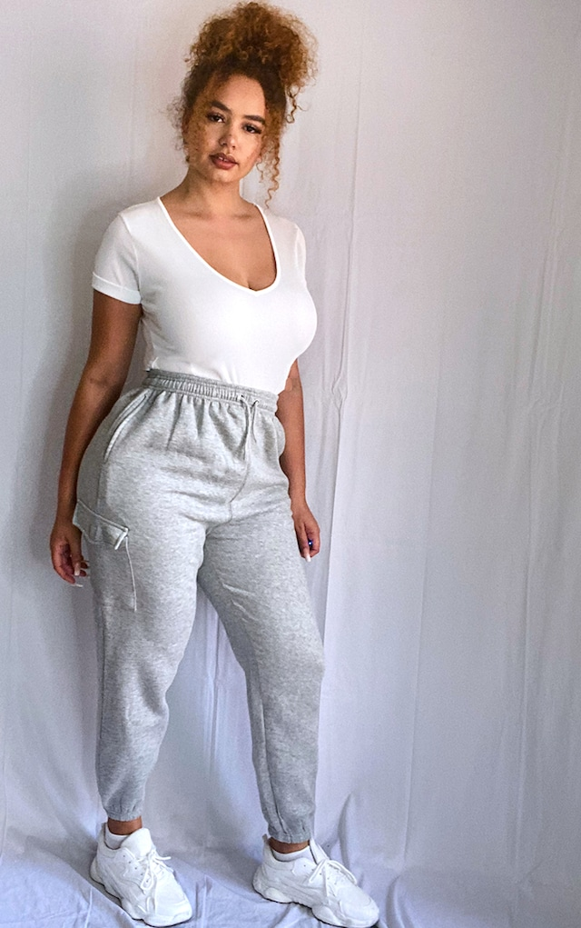 Plus Grey Pocket Detail Joggers by Pretty Little Thing, available on prettylittlething.com for £20 Kendall Jenner Pants SIMILAR PRODUCT