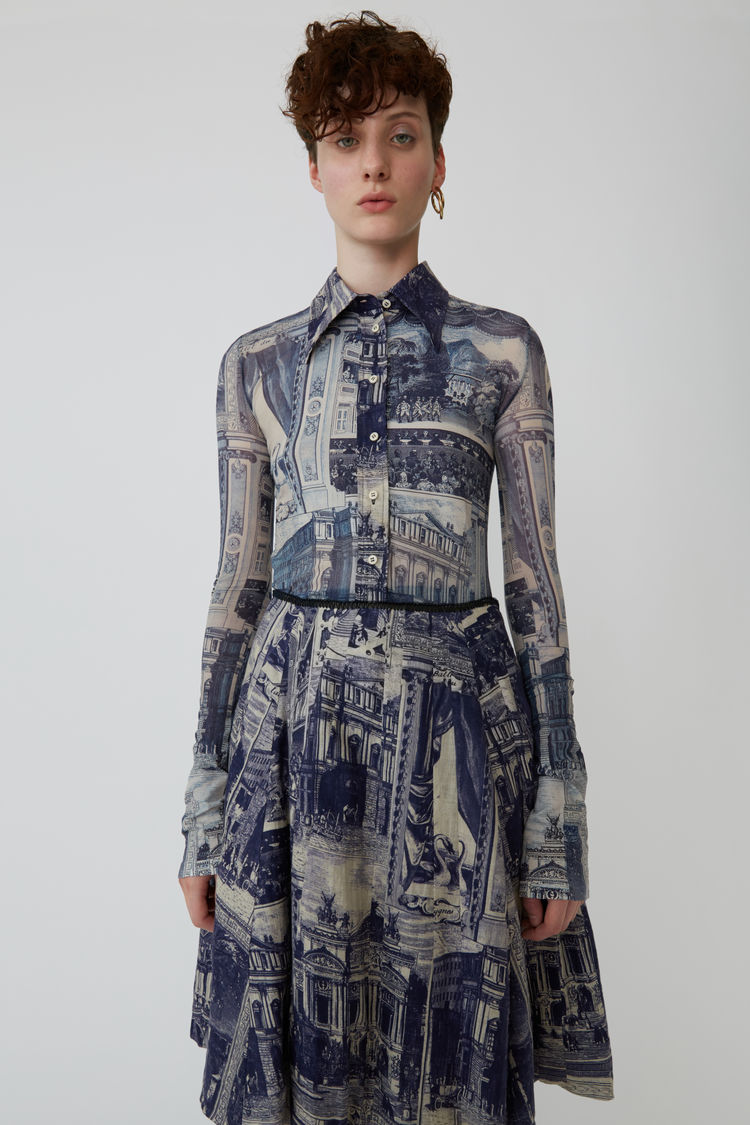 Printed Shirt by Acne, available on acnestudios.com for $310 Kendall Jenner Outerwear Exact Product