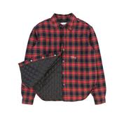 Quilted Flannel Shirt Jacket (Navy Plaid) by Cherry, available on cherryla.com for $210 Kendall Jenner Outerwear Exact Product