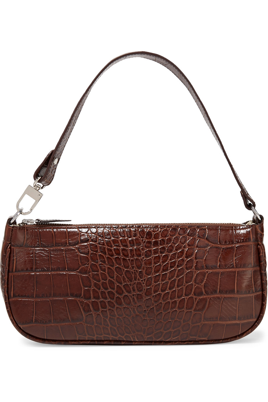 Rachel croc-effect leather shoulder bag by By-Far, available on net-a-porter.com for $365 Kendall Jenner Bags Exact Product