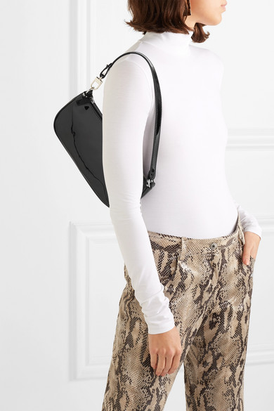 Rachel patent-leather shoulder bag by BY FAR, available on net-a-porter.com for $428 Kendall Jenner Bags Exact Product