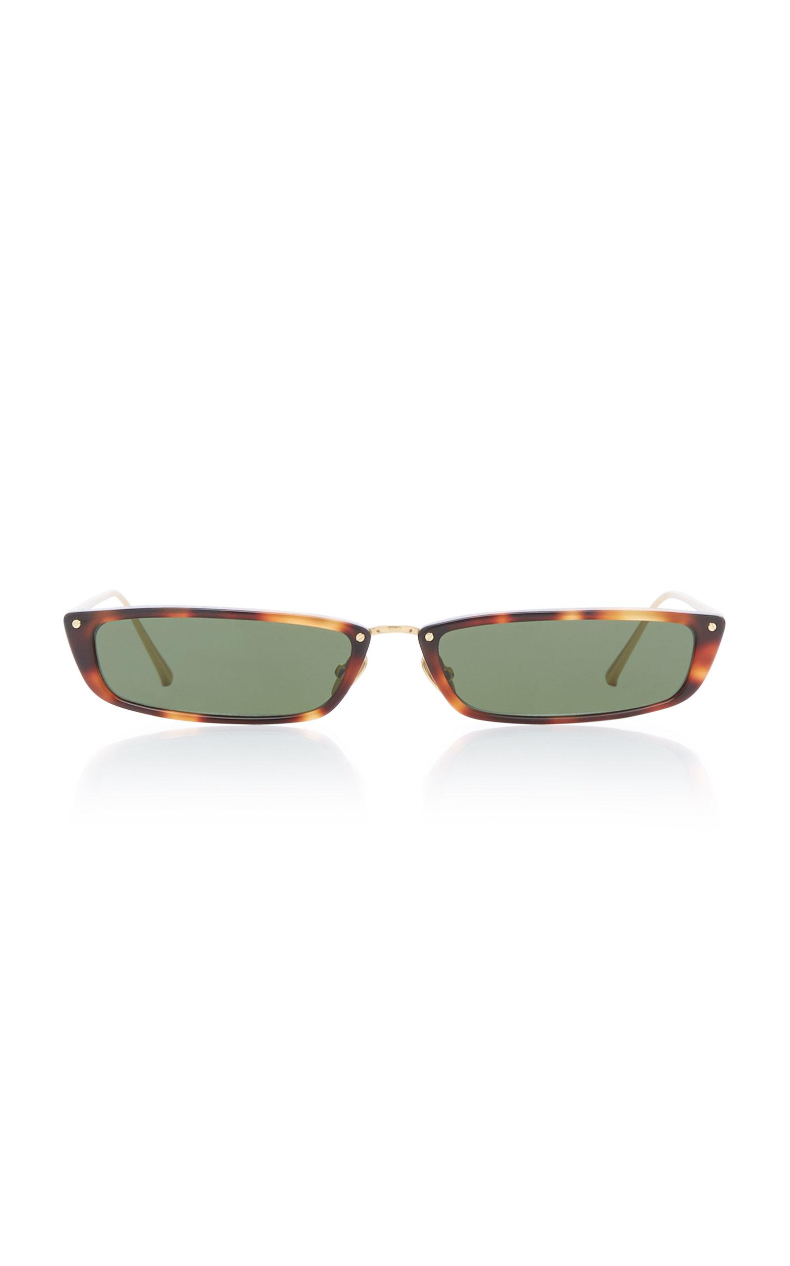 Rectangle-Frame Acetate Sunglasses by Linda Farrow, available on modaoperandi.com for $645 Kendall Jenner Sunglasses Exact Product