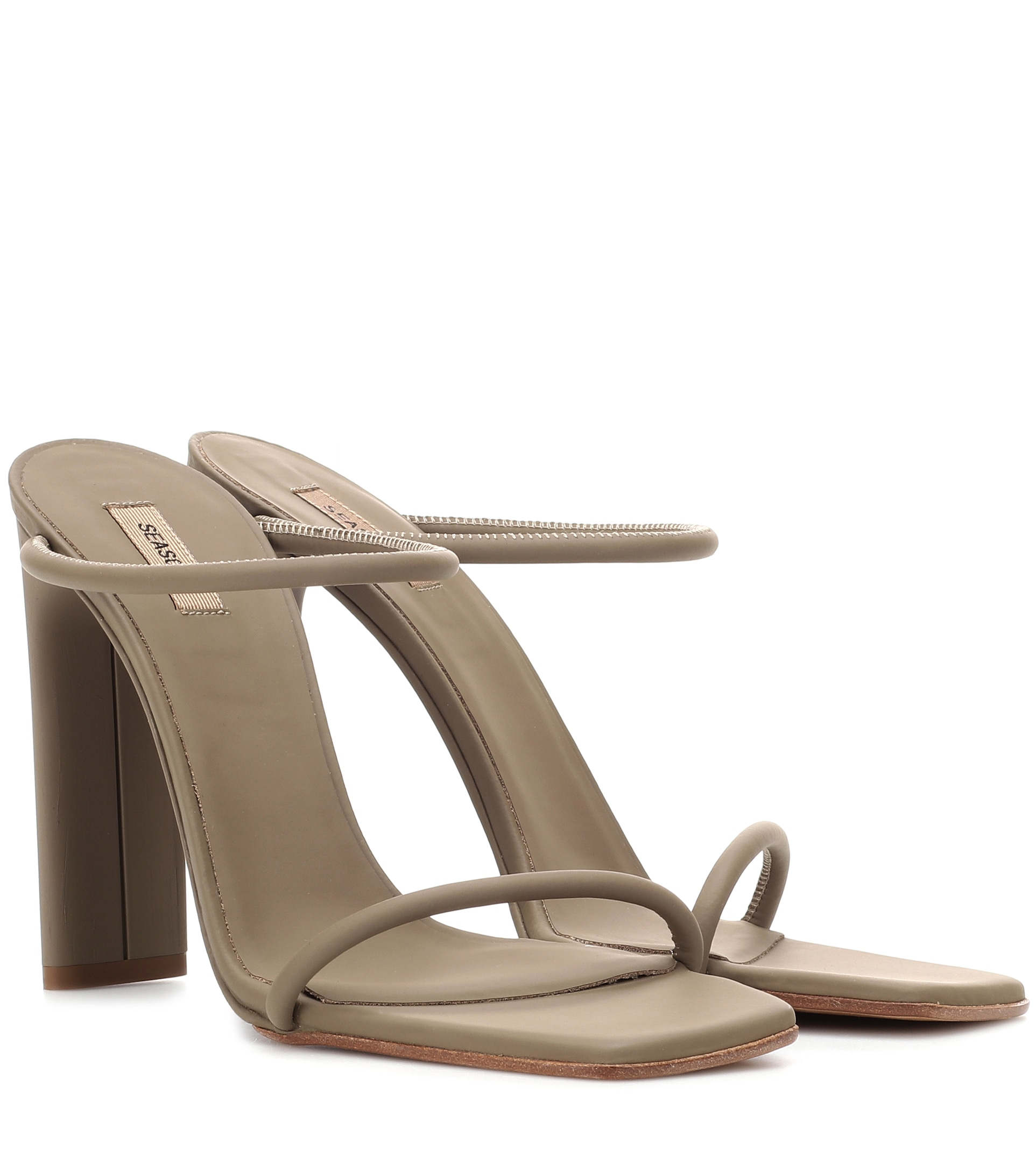 Rubberised leather sandals (SEASON 6) by Yeezy, available on mytheresa.com for $524 Kendall Jenner Shoes Exact Product