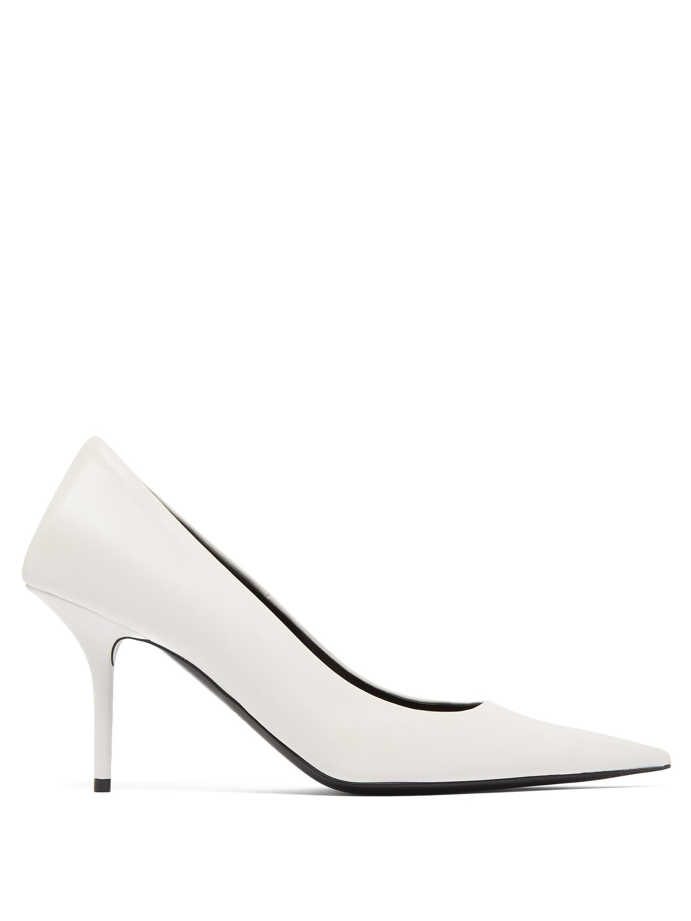 Square Knife leather pumps by Balenciaga, available on matchesfashion.com for £541 Kendall Jenner Shoes Exact Product