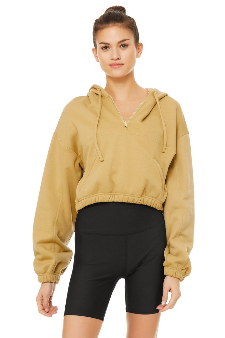 Stadium Half Zip Hoodie by Alo Yoga, available on aloyoga.com for $108 Kendall Jenner Outerwear SIMILAR PRODUCT