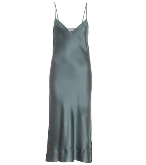Stella silk-satin slip dress by Lee Mathews, available on mytheresa.com for EUR439 Kendall Jenner Dress SIMILAR PRODUCT