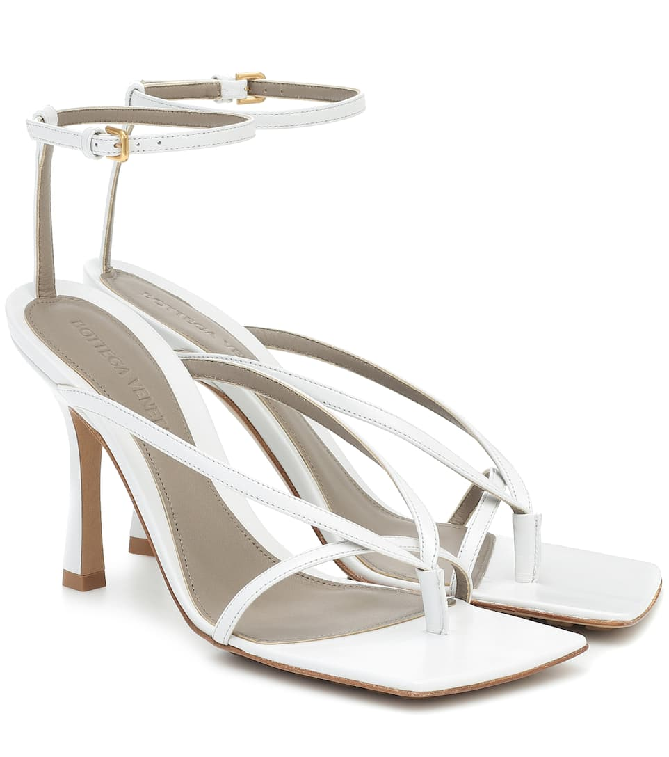 Stretch leather sandals by Bottega-Veneta, available on mytheresa.com for EUR535 Kendall Jenner Shoes Exact Product
