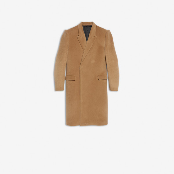Suspended Shoulder Coat Jaune acide by Balenciaga, available on balenciaga.com for $3900 Kendall Jenner Outerwear SIMILAR PRODUCT