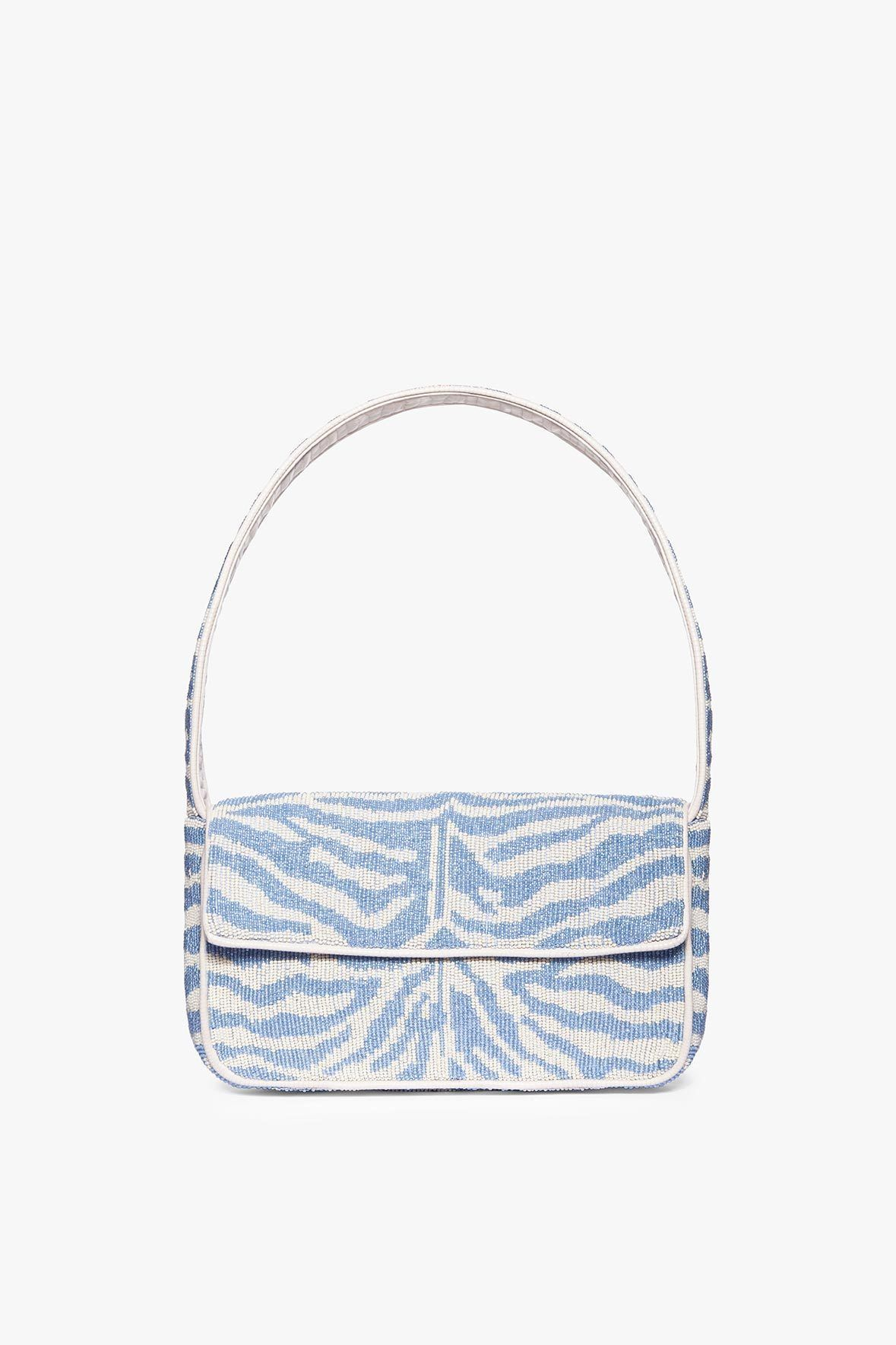 TOMMY BEADED BAG   LIGHT BLUE CREAM by Staud for $250 Kendall Jenner Bags Exact Product
