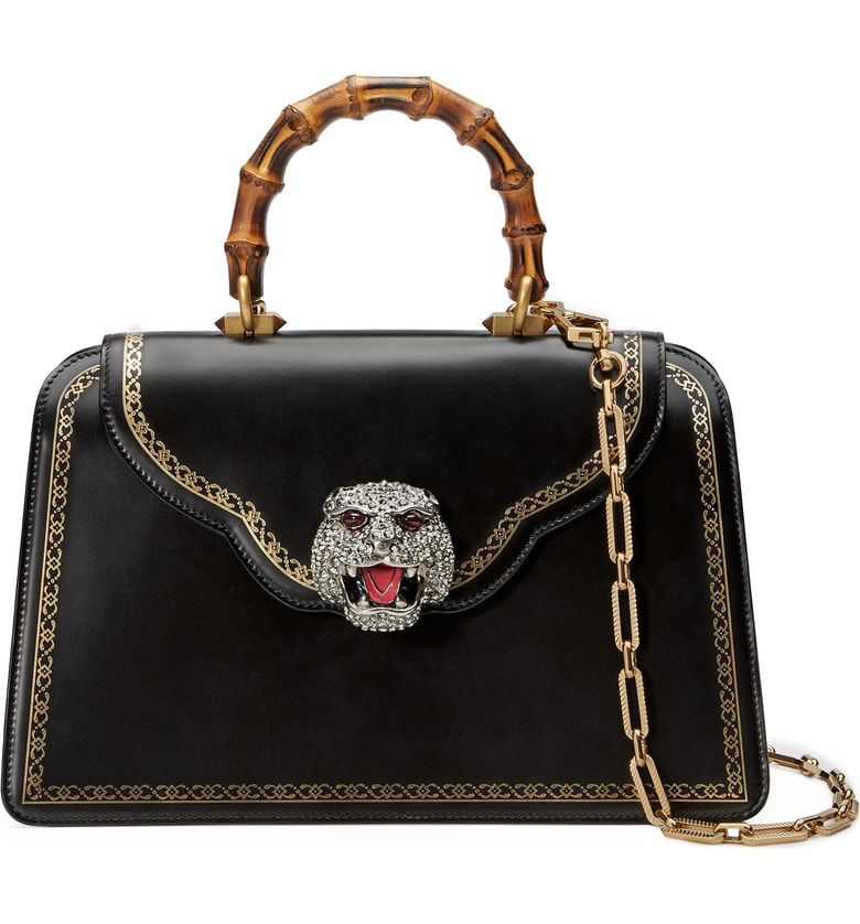 Thiara Medium Leather Top Handle Bag by Gucci, available on nordstrom.com for $4600 Kendall Jenner Bags Exact Product
