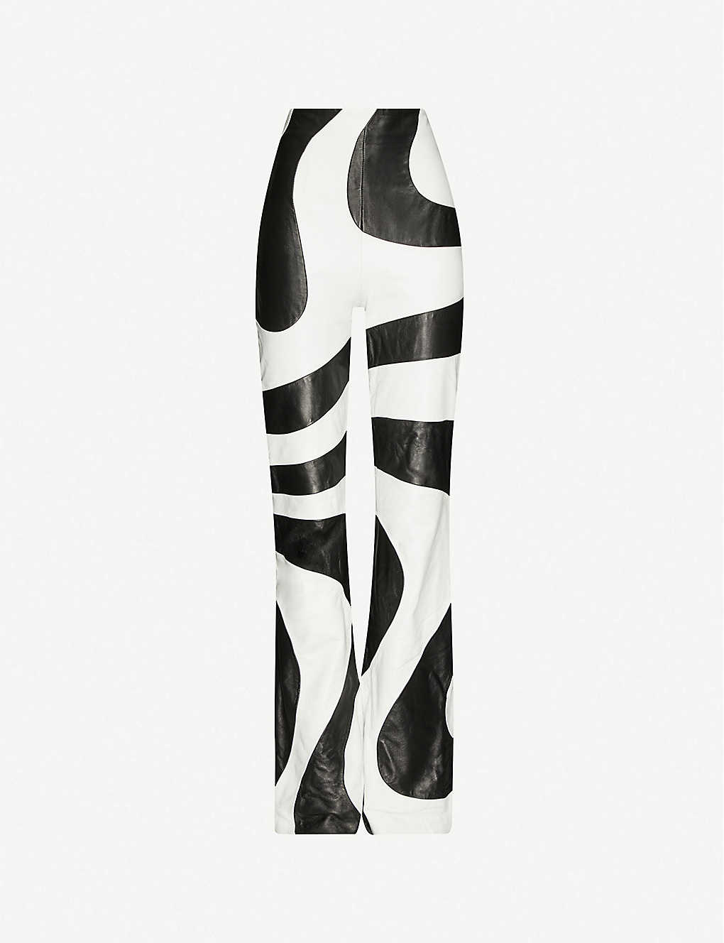 Twiggy flared high-rise leather trousers by 16ARLINGTON, available on selfridges.com Kendall Jenner Pants Exact Product