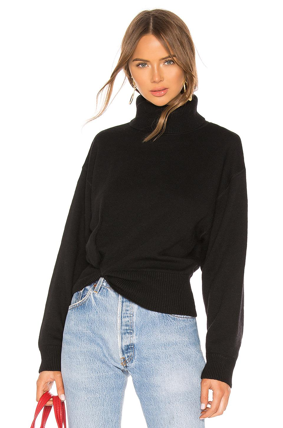 Twist Detail Turtleneck Sweater by Alexander Wang, available on revolve.com for $395 Kendall Jenner Top Exact Product